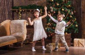 Новогодняя детская фотосессия.